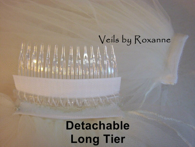 Detachable wedding veil