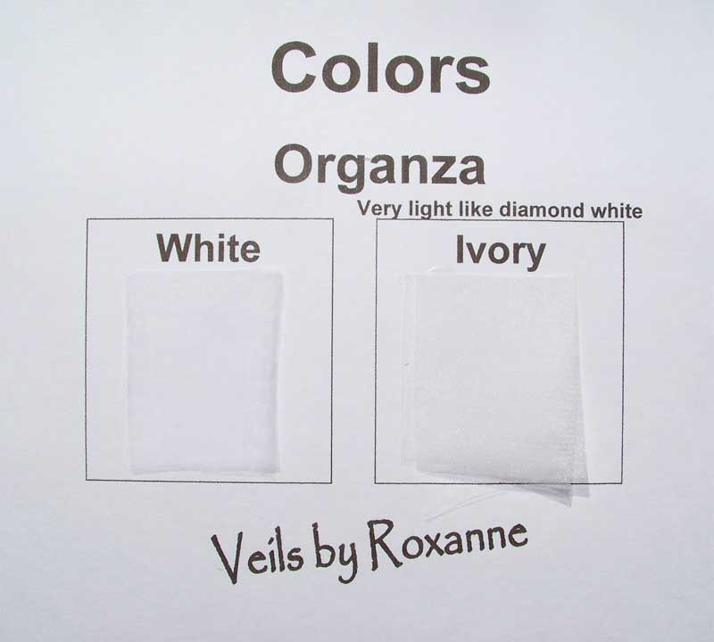 Colors for organza veils Ivory Color Vs Off White