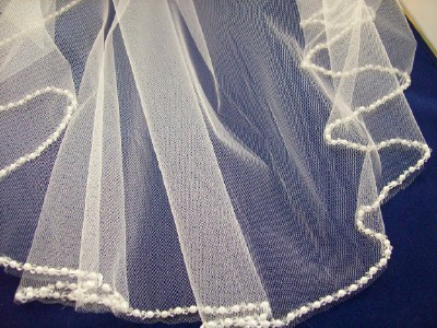 Beaded Edge Beaded bridal veils are spectacular