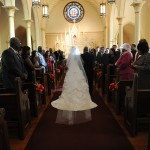 cathedral veil training down aisle