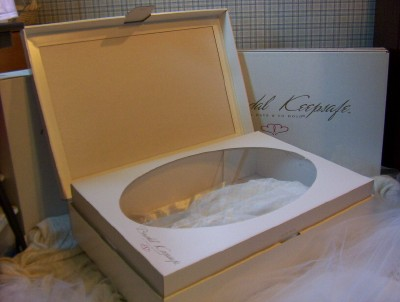 A wedding dress preservation kit for bridal gown storage for Wedding dress storage box